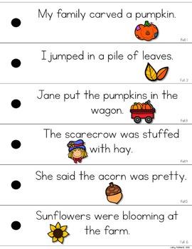 Fall Fluency Strips