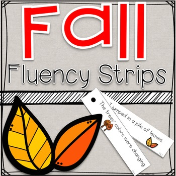Fall Fluency Strips