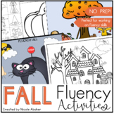 Fall Fluency (Stuttering) Activities for Speech Therapy