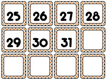 Fall Foliage {Orange & Black} Calendar Set