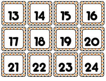 Fall Foliage {Orange & Black} Calendar Set