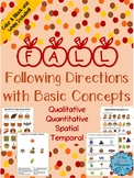 Fall Following Directions with Basic Concepts - Distance Learning
