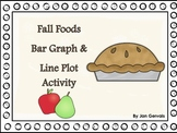 Fall Foods Bar Graph and Line Plot Activity