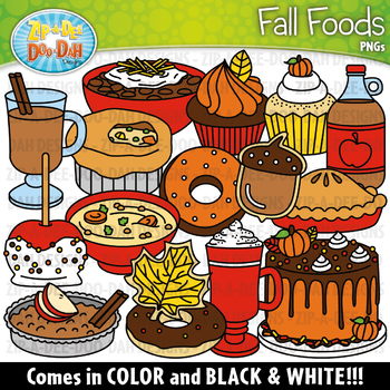 Fall Foods Clipart Set {Zip-A-Dee-Doo-Dah Designs}