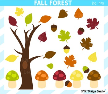 Fall forest clipart commercial use