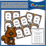 Fall Forest Friends Antonyms & Synonyms Task Cards