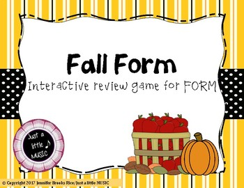 Fall Form - An interactive game for recognizing musical form and terms