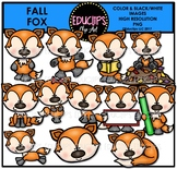 Fall Fox Clip Art Bundle {Educlips Clipart}