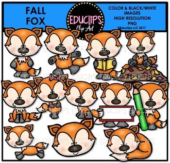 Fall Fox Clip Art Bundle {Educlips Clipart}