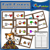 Fall Foxes Compound Words Task Cards
