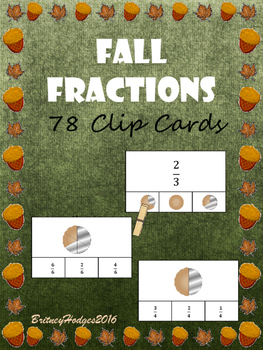 Fall Fractions Clip Cards
