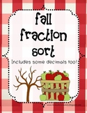 Fall Fraction Sort - Centers, Small Group Activity, Math Game
