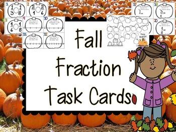 Fall Fraction Task Cards