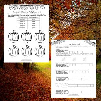 Fall Fractions Activities