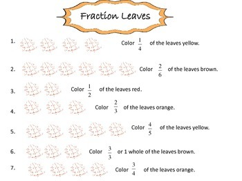 Fall Fractions Center/Printables