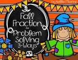 Fractions Multi-Step Problem Solving Activity - Fall Theme
