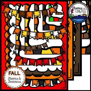 Fall Frames & Banners Clipart Bundle