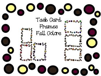 Fall Frames Clip Art