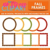 Fall Frames Clip Art (Digital Use Ok!)