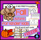 Fall Activities: Fall Math And Language Freebies