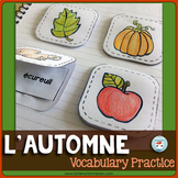 L'automne French Fall Vocabulary Match