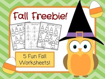 kindergarten fall freebies