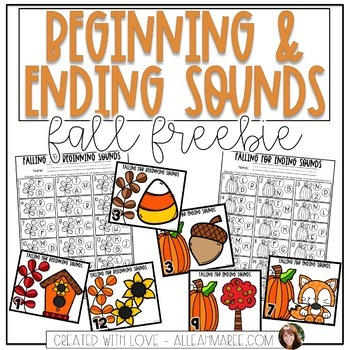 Fall Freebie Beginning and Ending Sounds