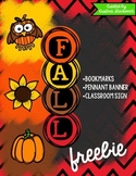Fall Freebie! {Bookmarks and Banner}