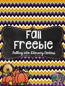 Fall Freebie (Falling into Literacy Centers)