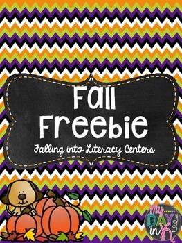 Fall Freebie (Falling into Literacy Centers)