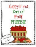 Fall Freebie! Happy First Day of Fall