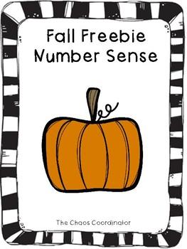 Fall Freebie Number Sense