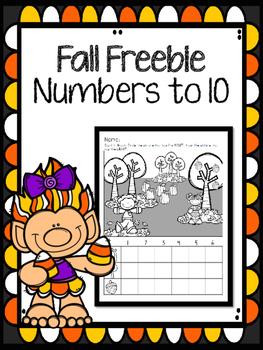 Fall Freebie Numbers to 10