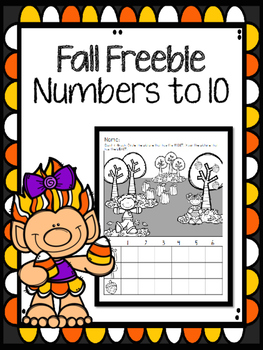 Fall Freebie Numbers to 10