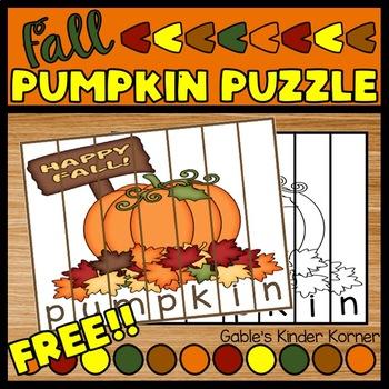 Fall Freebie! Pumpkin Puzzle