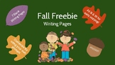 Fall Freebie! - Writing Pages