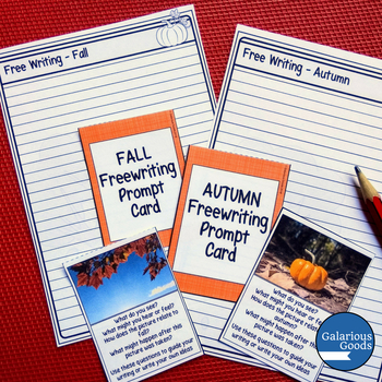 Fall Freewriting Prompt Cards (Autumn)