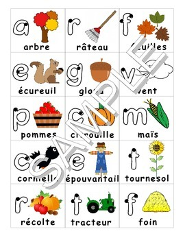 Fall (French) Substitute / Supply Teacher Package
