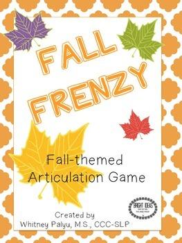 Fall Frenzy Articulation