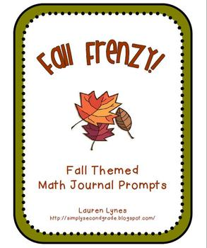 Fall Frenzy! Fall Themed Math Journal Prompts