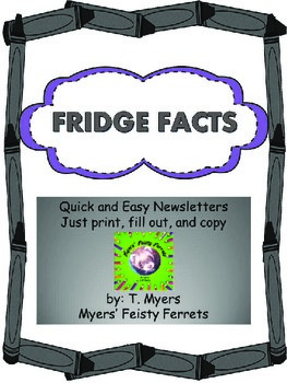Fridge Facts Print and Fill Newsletters