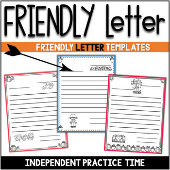friendly letter templates fall version