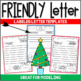 Winter Friendly Letter Fun ~ Featuring the 5 Parts of a Friendly Letter