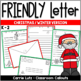 FRIENDLY LETTER TEMPLATES - WINTER VERSION