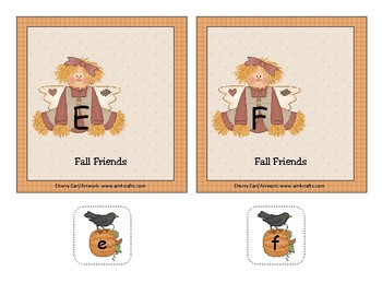 Fall Friends Alphabet Match Literacy Center Activity