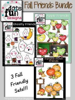Fall Friends Bundle Clipart