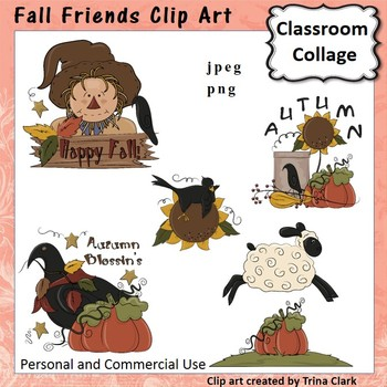 Fall Friends Clip Art - Color - personal & commercial use