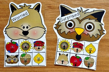 Fall Friends Emotions Sorting Mats