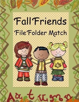 Fall Friends File Folder Match