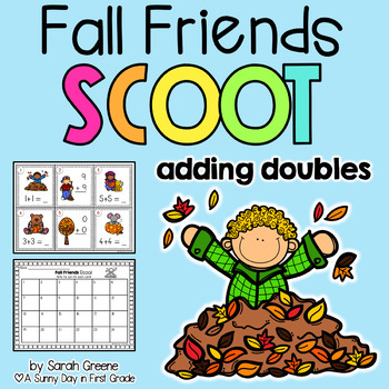 Fall Friends Scoot! {adding doubles}